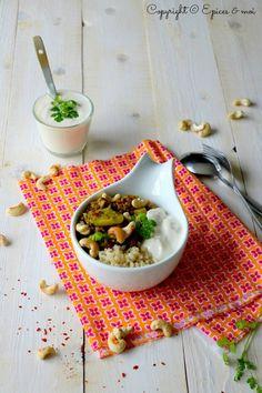 Dhal de lentilles à la rhubarbe, courgettes et cajou #végétalien #sans gluten #Bataille Food 35 - Epices & moi
