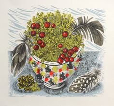 """Angie Lewin """"Cromarty Bowl"""" - limited edition lithograph http://www.angielewin.co.uk/collections/current-prints/products/cromarty-bowl"""