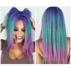 Adorable Mermaid Color Melt by - Hair And Beauty Pretty Hair Color, Beautiful Hair Color, Beautiful Mermaid, Purple Hair, Ombre Hair, Bright Hair, Colorful Hair, Pinterest Hair, Coloured Hair