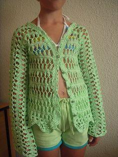 shenevski's Hairpin lace cardigan