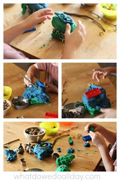 34 ideas for play dough add-ins that take fine motor work beyond sculpting and squeezing.