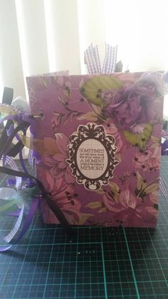 Measurements: x 6 Bound with 2 binder rings. Includes 17 pages, some bags, altered paperclips, tags and ephemera. Paper Clip, Binder, Ephemera, I Shop, All Things, Journal, Purple, Rings, Handmade