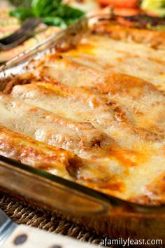 Meat Lovers Manicotti Stracotto-Style - A meat-filled twist on a classic cheese-stuffed manicotti. Incredible flavors!