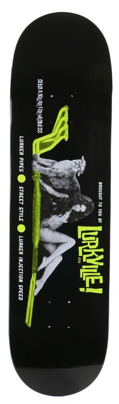 Lurkville Cougar Pipes 8.5 Skateboard Deck - Free Shipping