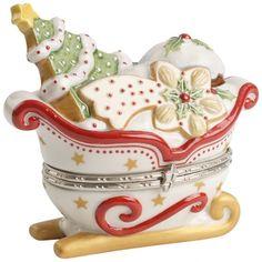 Villeroy & Boch Winter Bakery Decoration Treat Box : White Sleigh 3.5 in-01