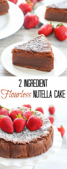 2 Ingredient Flourless Nutella Cake
