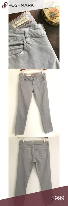 """Anthropologie Pilcro and the Letterpress Stet Jean Soft grey stretch jeans by Pilcro and the Letterpress for Anthropologie. Stet style in size 29. 32"""" waist, 39"""" hips, 30"""" inseam. Great condition. Anthropologie Pants"""
