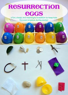 Put Up Your Dukes: Resurrection Eggs: Bridging the Gap Between American & Biblical Easter Celebrations through a Christ-Focused Foundation Catholic Easter, Easter Religious, Easter Egg Crafts, Easter Projects, Easter Ideas, Idees Cate, Resurrection Eggs, Easter Hunt, Easter Story