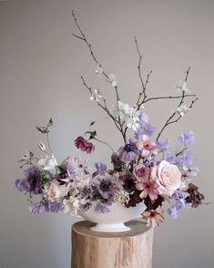 50+ Lavender Wedding Color Ideas | Shutterfly Beautiful Red Roses, Beautiful Bouquet Of Flowers, Bouquet Flowers, Rose Flowers, Neutral Wedding Flowers, Bridal Flowers, Purple Wedding, Flower Arrangements Simple, Flower Aesthetic