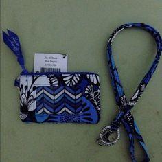 Vera Bradley zip id case lanyard blue bayou set Vera Bradley zip id case and lanyard blue bayou Vera Bradley Accessories Key & Card Holders