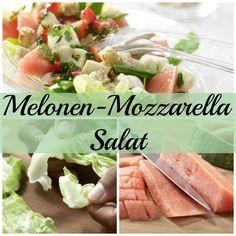 Erfrischender Sommersalat mit feiner Kräuternote : Melonen-Mozzarella-Salat mit fruchtigem Dressing | http://eatsmarter.de/rezepte/melonen-mozzarella-salat