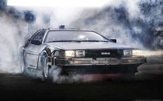 DeLorean Time Machine Frente Humo fx