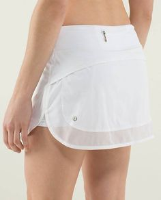 Lululmeon Run Hotty Hot Skirt $ 68.00 White  2 Way Stretch  Regular Only