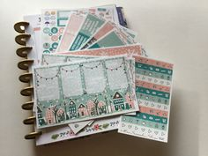 Winter Is Here weekly planner kit-*-9 sheets of stickers-No white space planning