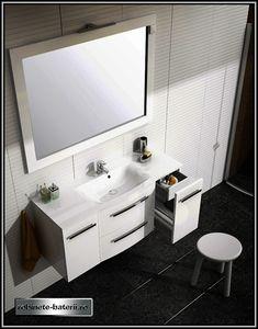 Mobilier baie suspendat Wave 120 cm, alb Double Vanity, Bathroom, Houses, Washroom, Bathrooms, Bath, Bathing, Bath Tub