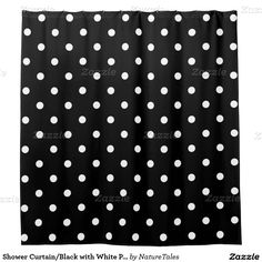 15% Off All Orders!  50% Off All Cards, Labels & Stickers      Ends Tomorrow! Use Code: SENDLOVEXOXO Shower Curtain/Black with White Polka Dots Shower Curtain