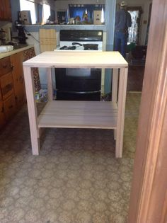"""Butcher Block Island This unit is 36""""tall x 36""""wide x 36""""deep. It is made out of solid red oak boards and finished with butcher block oil. These run 750.00"""