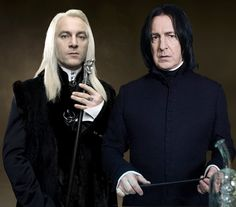 Snape and Malfoy  Because JKR knew how to write crazy mixed-up flawed guys who are hot in spite of themselves.