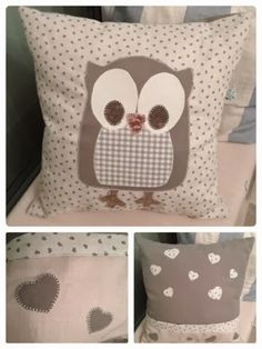 Craft House Magic:  Owl cushion cover version 2