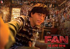 Yash Raj Films just released this amazing new poster for Fan, which features Shah Rukh Khan in a double role. Shahrukh Khan, Indian Movie Songs, Hindi Movie, Yash Raj Films, Movie Plot, Sr K, Cinema Posters, Film Posters, Song One