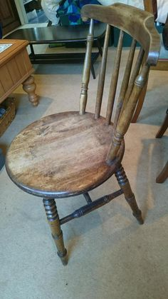5 Quality Vintage Wooden Chairs On Gumtree. 5 Vintage Solid Wooden Chairs  Round Shaped Seats