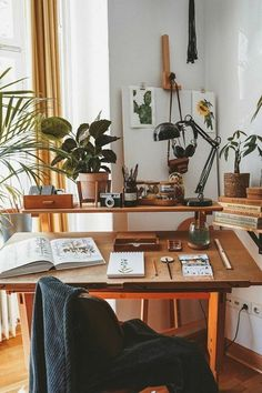 Workspace Inspiration, Home Decor Inspiration, Passion Deco, Aesthetic Room Decor, Decoration Design, Home Office Decor, My New Room, Cozy House, Sweet Home