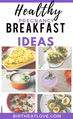 First time mom tips for what to eat for breakfast. 7 healthy pregnancy breakfast ideas to help you have more energy. Clean eating recipe ideas to add to your healthy pregnancy diet based on the best foods to eat during pregnancy to grow a healthy baby. Healthy Pregnancy Food, Pregnancy Nutrition, Pregnancy Tips, Pregnancy Lunches, Meals During Pregnancy, Pregnancy Eating, Pregnancy Smoothies, Pregnancy Checklist, Ectopic Pregnancy