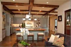 This is a bit like how I want my kitchen - big and open, with island.