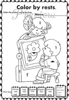 Play with me! Music Coloring pages.