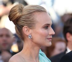80 And More Updo Hairstyles For 2014: Diane Kruger Updos  #updos #hairstyles #updohairstyles