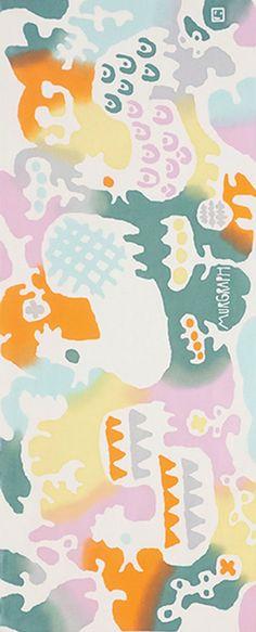 Japanese Tenugui Towel Cotton Fabric, Kawaii Cocks & Flower Design, Bird, Hand Dyed Fabric, Modern Wall Art Hanging, Table Runner, n168