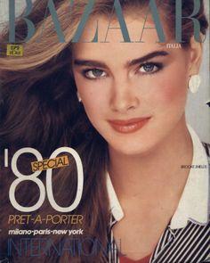 Bazaar magazine cover Brooke Shields