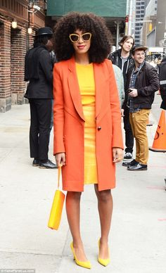 Solange ROCKING the colour block!