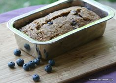 Whole Wheat Blueberry and Zucchini Bread Healthy Snack