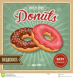 imagens para quadros vintage donuts - Pesquisa Google