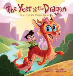 Items similar to The Year of the Dragon - Tales from the Chinese Zodiac - illustrated children's picture book on Etsy Dragon Baby Shower, Jennifer Wood, Dragon Puppet, Chinese Book, Kids Book Series, Dragon Tales, Sink Or Swim, Year Of The Dragon, Chinese Zodiac