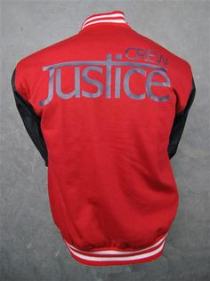 Justice Crew custom baseball jackets red and blue denim sleeves Justice Crew, Baseball Jackets, Lady Midnight, Aussies, Victoria Justice, Celebs, Celebrities, Blue Denim, Red And Blue