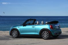View detailed pictures that accompany our 2016 Mini Cooper S Convertible: First Drive article with close-up photos of exterior and interior features. Volkswagen Karmann Ghia, Volkswagen Bus, Karmann Ghia Cabrio, Mini Cooper S Cabrio, Mini Cabrio, Mini Cooper Convertible, Mini Coopers, Bmw I8, Rosa Mini Cooper