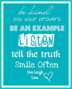 Words to Live By printable
