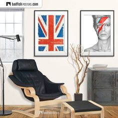 Do It Yourself Furniture, Uk Flag, Ziggy Stardust, Alternative Movie Posters, Flag Design, Frame It, Cool Posters, Union Jack, Flags