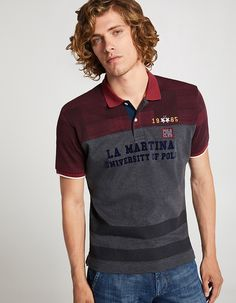 Men's T-shirt Polo Rugby Shirt, Polo T Shirts, Men's Polos, Polo Design, Men's Collection, Printed Shirts, Shirt Designs, Polo Ralph Lauren, Mens Fashion