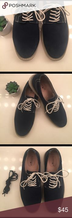 🌿 blue suede shoes 🌿 Men's [navy blue] suede shoes 🌿🌿🌿 My boyfriend purchased these on Poshmark & LOVES them but they are too big so I am reposhing them! They are a size 11.5 but run large - closer to a 12 or 12.5. ••• They have only been worn once & come with an extra pair of navy blue laces. ••• They are super cool + look great dressed up or down. They look even nicer in person. 🌞🌞🌞 Florsheim Shoes Oxfords & Derbys