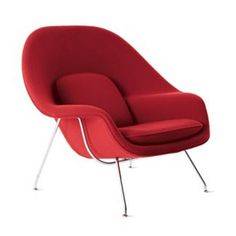 When Florence Knoll challenged Finnish-born architect and designer Eero Saarinen in 1946 to create a chair that she could curl up in, she had found an apt candidate for the task. The Womb Chair's enveloping, lap-like form continues to be one of the most iconic and recognized representations of mid-century Scandinavian organic modernism.
