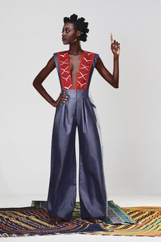 outfit african fashion red and blue style black style