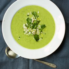 Zucchini and Spinach Soup with Barley, Coriander and Watercress | Food & Wine