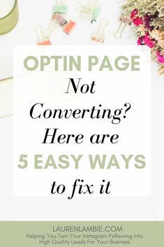 If you are building your email list and sending traffic to an optin page, it's essential to your list growth that you get a high conversion rate. But fear not. If your optin page isn't converting well and you're not sure where to go from here, I've put to Email Marketing Strategy, Business Marketing, Affiliate Marketing, Business Tips, Online Marketing, Online Business, Digital Marketing, Content Marketing, Marketing Ideas