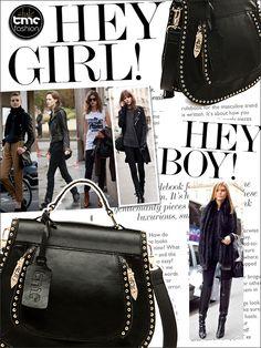 New Fashion TMC Women Rivet handbag Elegant half-round Shoulder bag Black YL012 | eBay