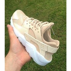 Army Khaki Nike Air Huarache Army Huarache Khaki Huarache Nike... ($187) ❤ liked on Polyvore featuring shoes, grey, sneakers & athletic shoes, tie sneakers, unisex adult shoes, genuine leather shoes, leather footwear, waterproof footwear, waterproof shoes and water proof shoes