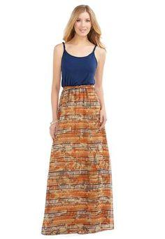 d8be4f5f43a Cato Fashions Aztec Belted Maxi Dress-Plus  CatoFashions Plus Dresses