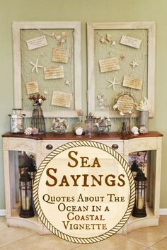 Sea Sayings - Easy #DIY #Coastal Decor via Miss Kopy Kat